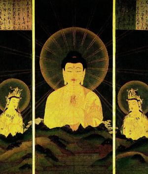 山越しの阿弥陀像